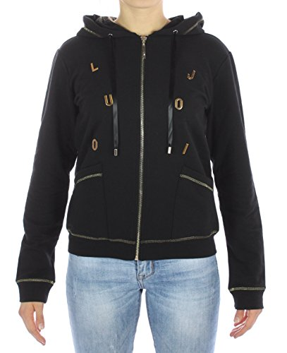 Liu Jo Jeans Sweatshirt LIUJO Sport Sweatshirt offen Cambridge Damen schwarz T67052F0683, Schwarz XS