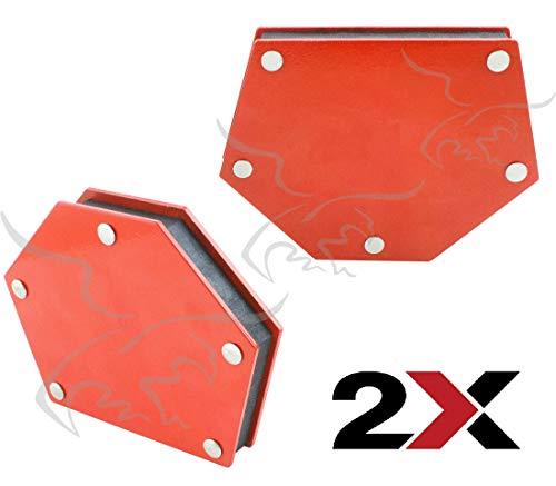 Escuadra magnetica hexagonal para soldador 22 Kg. 2 Unidades con imán para soldar