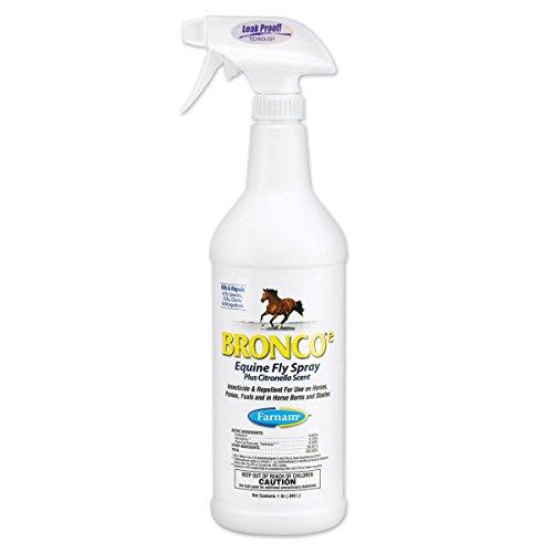 Bronco E Equine Fly Spray Plus Citronella Scent, 1 Quart