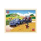 Dino Toys 644052 - Puzzle de Madera (20 Unidades), diseño de Tractor Tatra