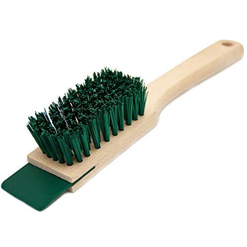Scrubbing Brush Heavy Duty, Hand Brush with Scraper - Garden Brush for...