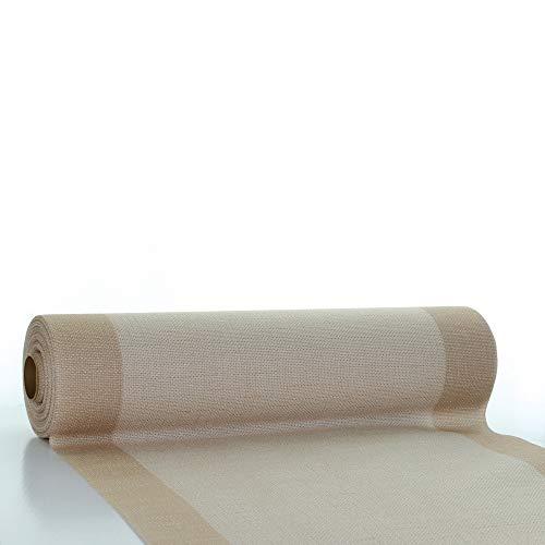 Sovie HORECA | Tischläufer Mailand aus Linclass® Airlaid | 40 cm x 24 m | 1 Stück (Hellbraun)