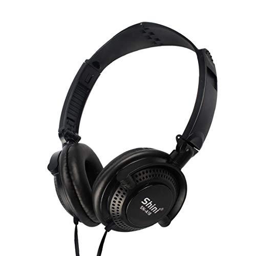 Auriculares plegables Auriculares con cable para juegos con micrófono para PC Auriculares con cancelación de ruido para un auricular con micrófono para PS4 Playstation 4 Teléfono móvil