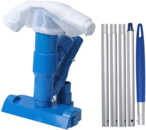 Poweka - Mini aspirador de piscina para piscina, spa, jacuzzi, fuente, baño de escombro y estanque, mini aspirador Jet Vac para limpiar las hojas, el arena y el limón