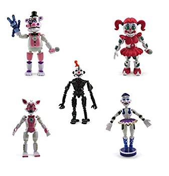 New Set of 5 FNAF Sister Location Action Figures / Action Figure Toy / Toys / Gifts / 6 inches  Funtime Freddy Circus Baby Enard Belora Funtime Foxy