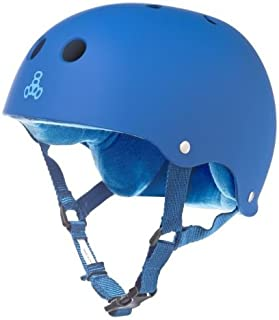 Triple Eight Sweatsaver Liner Skateboarding Helmet, Royal Blue Rubber, Medium
