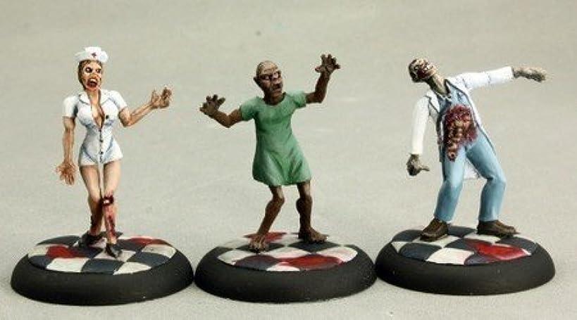 Zombies (3) - Doctor, Nurse, Patient Chronoscope Miniatures