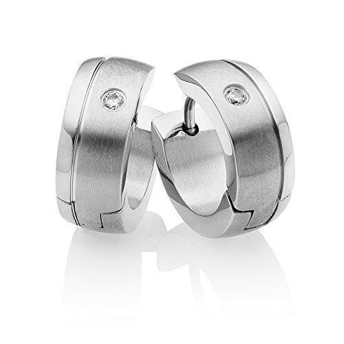 Miomi titanium hoop earrings anti-allergic for women hoop earrings. Silver