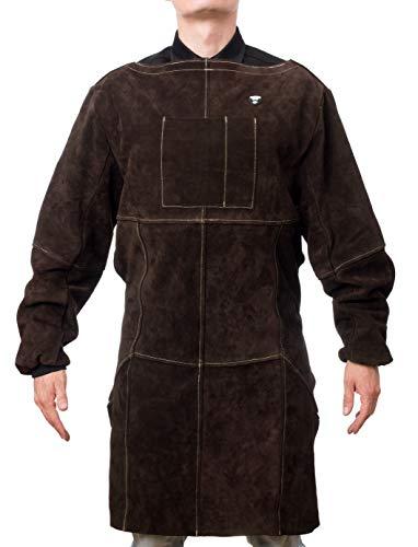 Waylander Full Length Welding Apron – Cowhide Split Leather and Kevlar Stitching