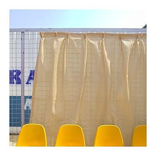 KKCF Paño De Sombra, Cobertizo para Visera Sol Beige Jardín Aire Libre Más Red Privacidad Material Polietileno Grueso, Cubierta Ligera Anti-UV, Tamaño Personalizado (Color : Beige, Size : 5x6m)