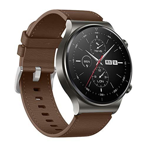 ZLRFCOK Correa de cuero de 22 mm para Huawei Watch GT 2 Pro Band para Huawei Gt2 Pro Band pulsera accesorios reemplazables (color marrón, tamaño: 22 mm otras correas)
