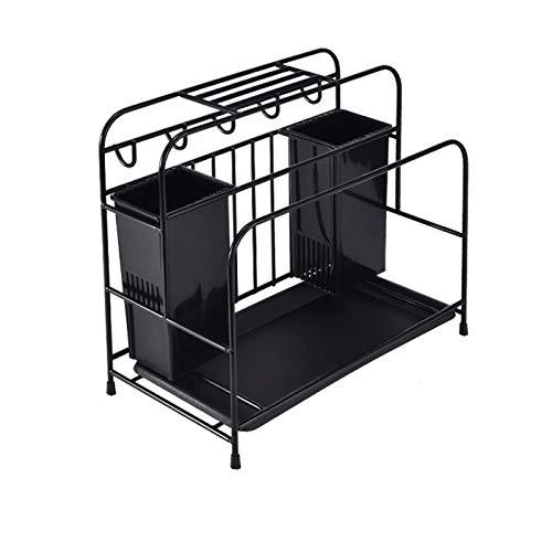 JISHIYU -S - Soporte de acero al carbono para cuchillos de cocina, soporte de tijeras, estante multifuncional para cuchillos de cocina, apto para almacenar cuchillos, tijeras, etc
