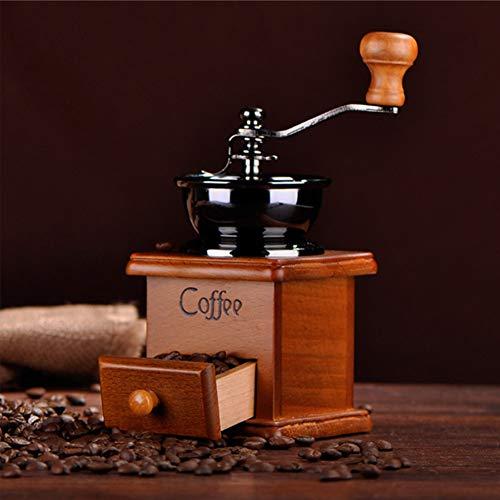 Macinino da caffè-Macinacaffè Manuale con Regolazione dell'inGranaggio Regolabile e bava conica in Ceramica, macina Mulino a Mano per Uso Domestico e di Viaggio