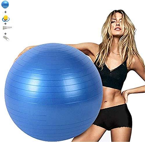 Ejercicio bola de la gimnasia 100cm Azul Yoga Pilates bola espesado no Slip Explosión suizo pelota de parto bola for silla de oficina en casa Gimnasio Shaping Therap Física Ayuda Parto Ball Balance Tr