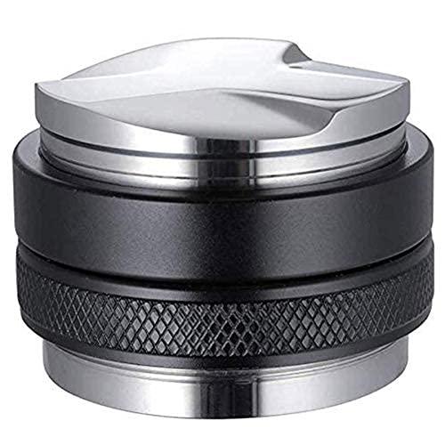 HYBHSCL 51 mm Espresso Tamper y dispensador, Levelador de café Doble de Doble Cabeza, grifos de Espresso Profesional Profesional en Profundidad Ajustable