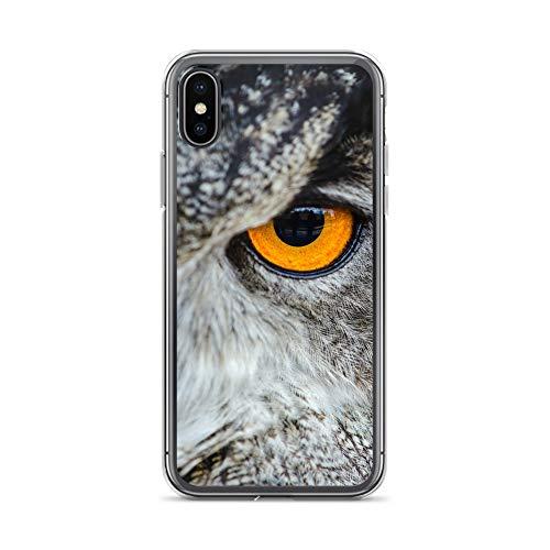 blitzversand Handyhülle TIERAUGEN Zoo Animal kompatibel für Samsung Galaxy S4 Mini Nacht Eule Schutz Hülle Case Bumper transparent M1