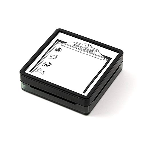 スタンプ 大きめ 浸透印 付箋 メモ 仕事 スケジュール帳 やることリスト 時計 デコ お気に入り 買い物リスト メニュー 旅行 プラン お出かけ