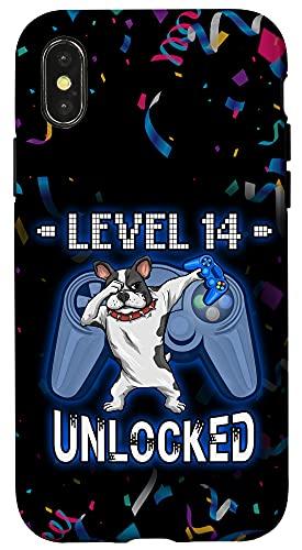 iPhone X/XS Level 14 Unlocked Dabbing French Bulldog Gamer 14th Birthday Case