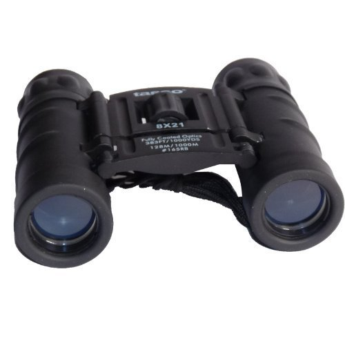 Tasco 8X21 Essentials, FRP Compact Prismáticos, Unisex, Negro, 8 x 21 mm