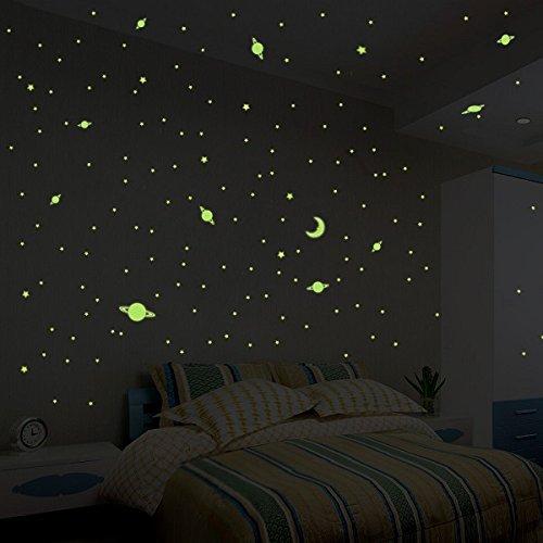 Stickers Voie Lactée Phosphorescente - 390 étoiles et planètes