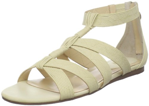 Maxstudio Women's Stuart Wedge Sandal,Cream,7.5 M US