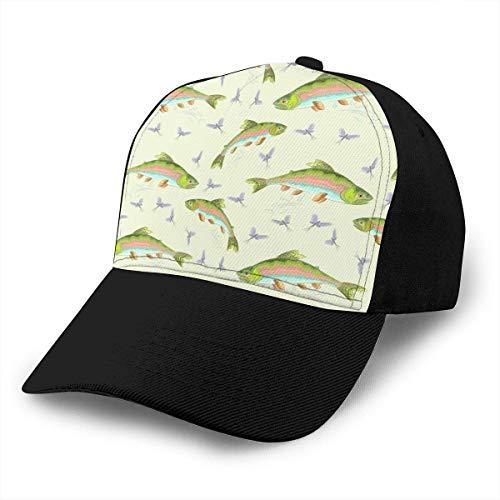 Trucha Arco Iris Saltando Gorra de béisbol Ajustable Unisex Gorras Populares de Hip Hop Sombrero de papá