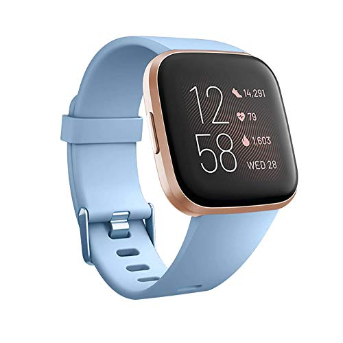 for Fitbit Versa/Fitbit Versa 2/Fitbit Versa Lite Edition Bands Replacement Wristband Breathable Sports Strap Waterproof for Fitbit Versa Smart Watch Women Men
