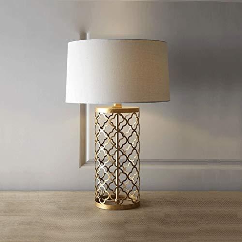 Zhenmu home Americana Creativo de Hierro Dorado Antiguo Arte de la lámpara de Noche Habitación Sala lámpara de Mesa