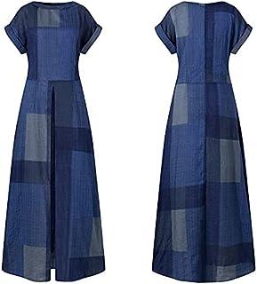 فستان صيفي للنساء قمصان رياضية مقاس XL لون أزرق بحري مقاس 4XL)