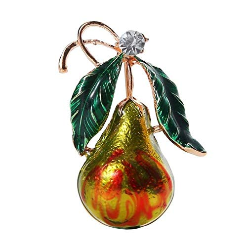 SUZHENA Broche Piedras Preciosas Frutas Hortalizas Alfileres Broche Insignia Ropa