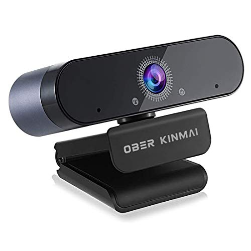 1080p Webcam with Microphone for Desktop, HD Web Cam USB Computer Camera, 30fps Auto Focus/Light Correction for Laptop PC Streaming Online Class, Meeting, Gaming, Zoom/Facetime/Skype/YouTube