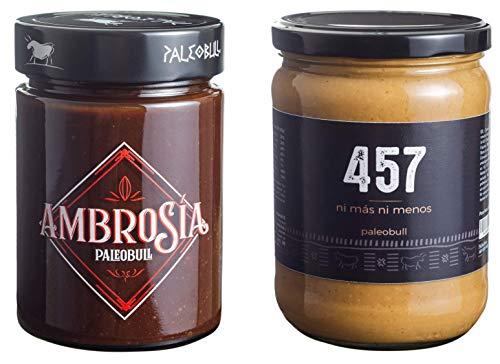 Pack Crema de Cacao y Avellanas Saludable Ambrosía 300 g y Crema...
