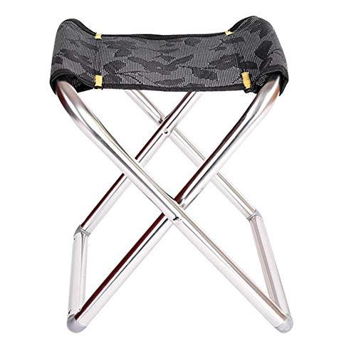 Tabouret De Camping Pliant, Chaise De Camping pour La Pêche en Haute Mer, Pêche en Acier Inoxydable Pliable Portable Mazar Simple Pêche en Plein Air (Color : Black, Size : L)
