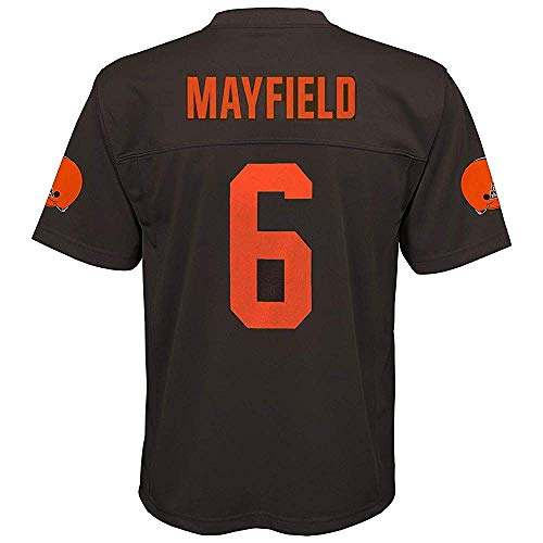 Baker Mayfield Cleveland Browns NFL Youth 8-20 Brown Color Rush Mid-Tier Jersey (Youth Medium 10-12)
