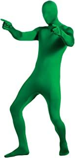 Green Adult Second Skin Full Body Professional Quality Jumpsuit With Hood