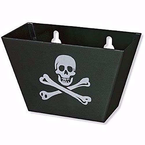 Black Aluminum with a Laser Engraved Skull & Crossbones Bottle Cap Catcher