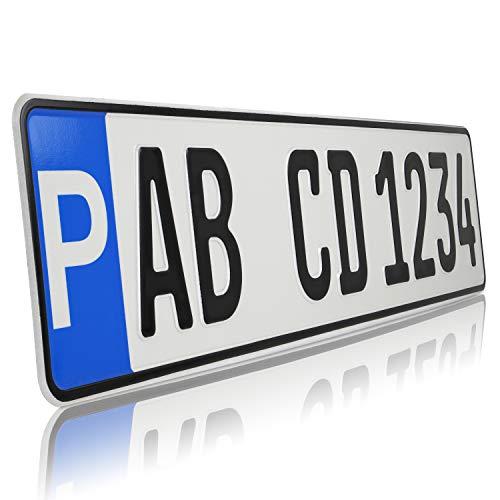 TEILE-24.EU Malinowski 1 x Parkplatz Kennzeichen | Parkplatzschild | Wunschkennzeichen | DHL Versand