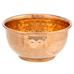 Alternative Imagination Hammered Copper Offering Bowl for Altar Use, Rituals, Incense, Smudging, Decoration, and More