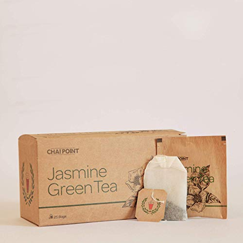 Chai Point Jasmine Green Tea – 50 Tea Bags (Pack of 2) | Mildly Floral and Relaxing Green Tea