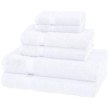 Pinzon Organic Cotton Towels 6 Piece Set, White