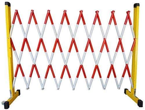 GJX Mobile Barricade System Expansible móvil Barricada de Agua portátiles llenas Ampliación Valla de Seguridad de Puerta de Barrera de plástico al Aire Libre retráctil Tráfico (Size : 1.2 * 4m)