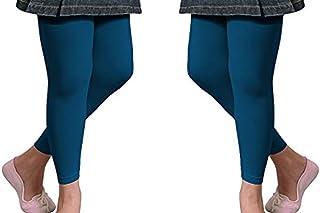 Good Deal Market 2 Kinder Thermo Leggings oder Thermostrumpfhosen mit flauschigem Innenfleece Vollfrottee tolle Unifarben Grössen 110/116 bis 146/152