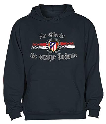 CamisetasATM1903 Sudadera Hombre Atletico de Madrid- Atleti -La Gloria se consigue Luchando Adulto Sudaderas del Atleti Colchoneras
