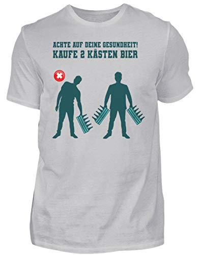 Camiseta para hombre con texto en alemán 'Bierliebhaber Lustig Gris (mezclado). L