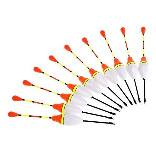 DER 10pcs Carp Fishing Galleggianti Set Boa Bobber Stick for i Pesci Tackle Verticale (Color : A)