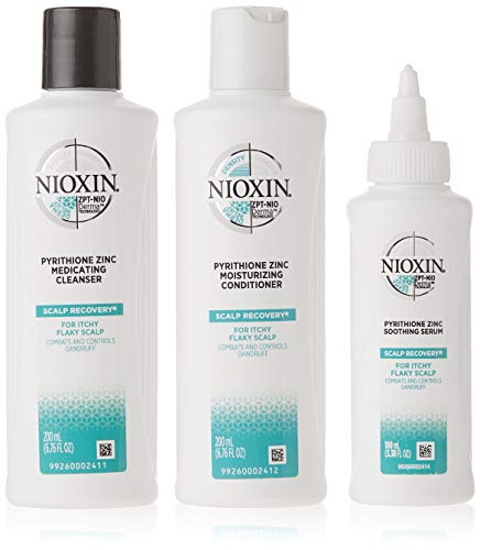 Nioxin Scalp Recovery Kit, Anti-Dandruff Shampoo, Conditioner and Serum System