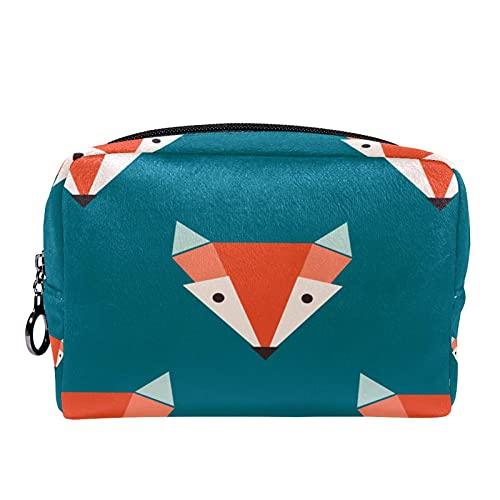 Foxes - Organizador de maquillaje geométrico para mujeres y niñas y niños