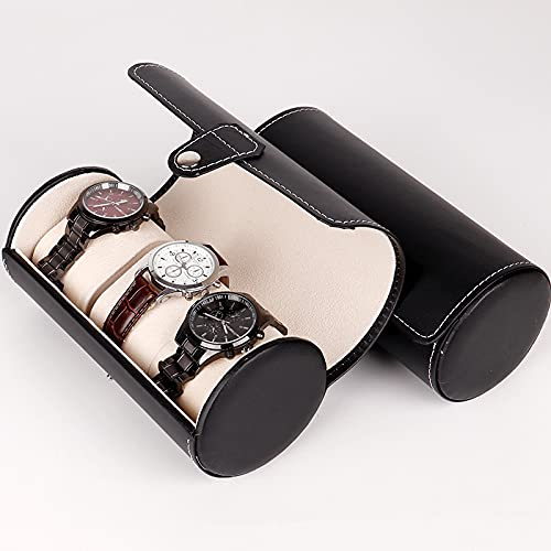 woyada Caja de reloj de cuero, organizador y exhibición, multifuncional reloj rollo de viaje para hombres y mujeres, gran regalo para tu amante