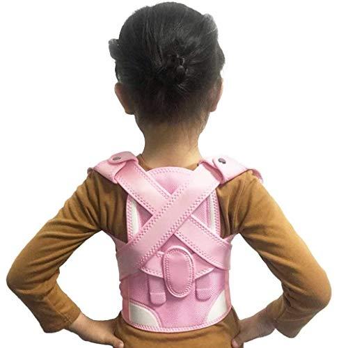 AWEDE Kinder Kind Gesundheit Einstellbare Magnetische Haltung Korrektor Rückenschmerzen Schulterstütze Orthopädische Korsett Rückenstütze Brace Gürtel (Color : Pink, Size : Large-XL)