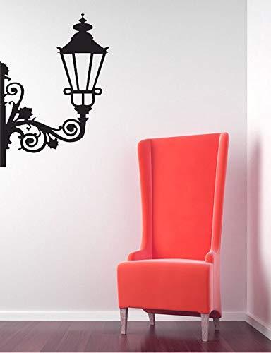Pegatina de pared de remolino de luz de calle creativa, pegatina extraíble de vinilo escolar única, pegatina de lámpara de noche estéreo A1 30X42CM